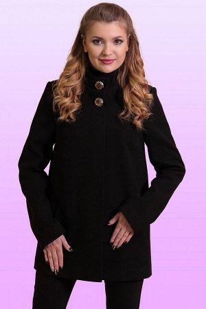 Черный Стильная модель женственного покроя. Каждая деталь этого короткого пальто основательно продумана, чтобы обеспечить идеальный баланс между стилем и комфортом. Потайная застежка и две декоративны