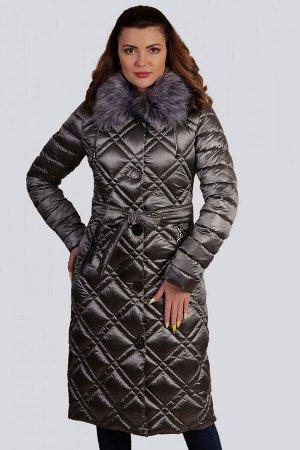 Серый Украшением зимней коллекции  станет пальто в классическом стиле. Элегантное и комфортное, отличительной особенностью которого является стежка -двойной ромб. Центральная застежка на молнию и кноп