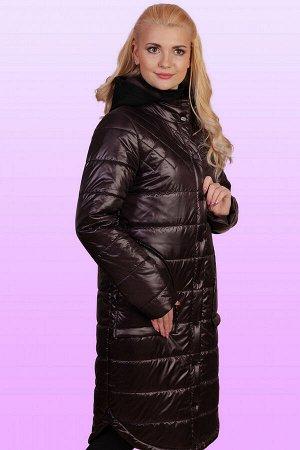 Шоколад Пальто с вязаным с капюшоном – это актуальная вещь весеннего сезона, о приобретении которой стоит задуматься каждой девушке, обожающей разные стильные штучки. Пальто на термофине будет как не