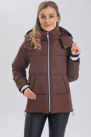 Коричневый Короткие куртки с капюшоном  пользуются популярностью у девушек круглый год. Капюшон отлично защищает от ветра, поэтому нет необходимости дополнительно использовать головной убор. Демисезон