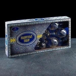 """Набор подарочный """"Византия"""", 12 предметов: 6 фужеров 260 мл, 6 рюмок 60 мл, гравировка, отводка золотом"""