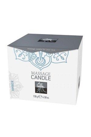 Массажная свеча HOT Shiatsu с ароматом Амбры, 130 мл