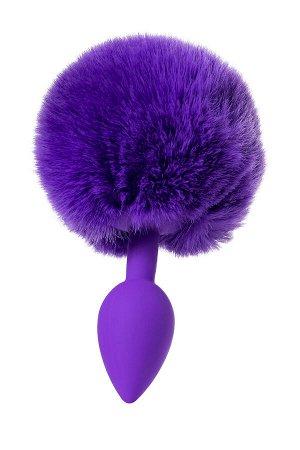 Анальная втулка с хвостом ToDo by Toyfa Sweet bunny, силикон, фиолетовый, 13 см, ? 2,8 см, 42 г