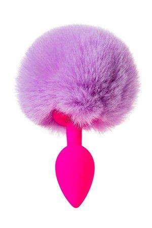 Анальная втулка с хвостом ToDo by Toyfa Sweet bunny, силикон, розово-фиолетовый, 13 см, ? 2,8 см, 44