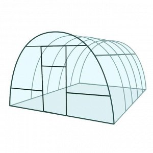 Каркас теплицы «Базовая», 4 ? 3 ? 2,1 м, металл, профиль 20 ? 20 мм, шаг дуг 65 см, 1 мм, без поликарбоната
