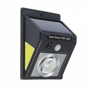 Светильник уличный с датчиком движения, солнечная батарея, 5 Вт, COB LED, направленный свет