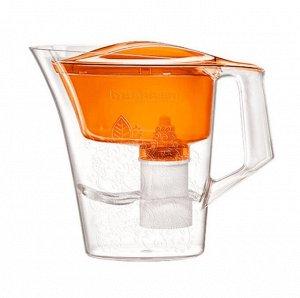 Фильтр-кувшин ТАНГО (оранжевый с узором) 2,5л кувшин/1,1л воронка