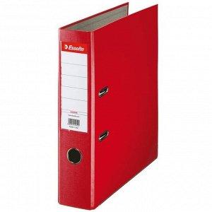 Папка-регистратор Esselte Economy, 75мм, картонная с полипропиленовой пленкой, красная