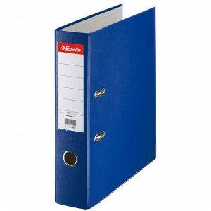 Папка-регистратор Esselte Economy, 75мм, картонная с полипропиленовой пленкой, синяя