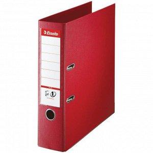 Папка-регистратор Esselte Standard Plus, 80мм, полипропилен, нижний метал. кант, красная