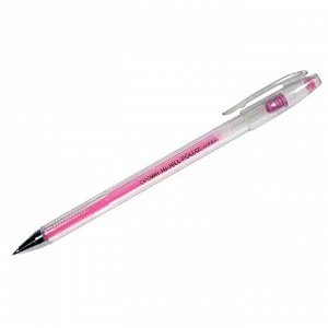 """Ручка гелевая Crown """"Hi-Jell Color"""" розовая, 0,7мм"""