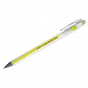 Ручка гелевая желтая, 0,7мм