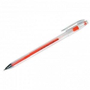 Ручка гелевая оранжевая, 0,7мм