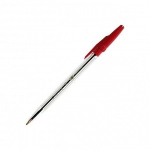 """Ручка шариковая """"Corvina 51"""", красная, 1мм, прозрачный корпус"""