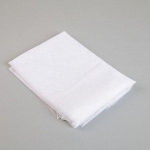 Сетка антимоскитная на окна 150*150 см, крепление на липучку, цвет белый