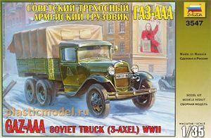 Сборная модель ZVEZDA Советский трехосный армейский грузовик ГАЗ-ААА2