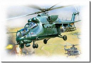 Сборная модель ZVEZDA Вертолет Ми-35М9