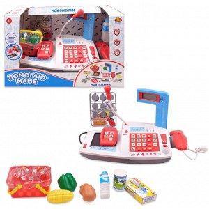 Помогаю Маме. Касса, в наборе с продуктами,со световыми и звуковыми эффектами, в коробке12