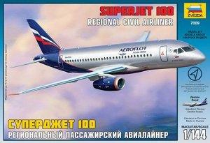 Сборная модель ZVEZDA Пассажирский авиалайнер Суперджет 100 1/14413