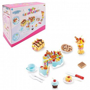 Помогаю Маме. Торт фруктовый (черничный) в наборе с аксессуарами, 75 предметов264