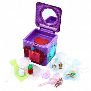 Волшебная шкатулка с секретами Funlockets. Подберите ключики к дверцам и найдите секреты и подвески внутри! 18 сюрпризов, цвета: розовый, фиолетовый.6419