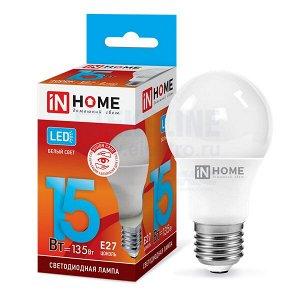Лампа светодиодная LED-A60-VC 15Вт 230В Е27 4000К 1350Лм IN HOME