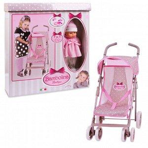 Кукла DIMIAN Bambolina Boutique в наборе 7 в 1 с прогулочной коляской с поворотными колесами и аксессуарами24