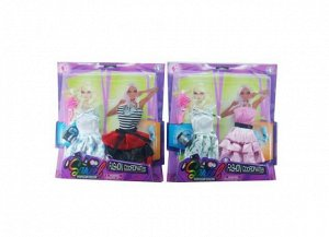 Одежды и аксессуары для куклы высотой 29 см 2 шт в ассортименте (2 платья, обувь, сумочка, расческа)154