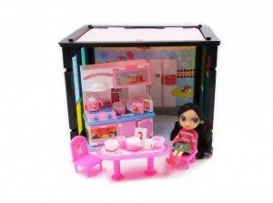 """Игровой набор Abtoys В гостях у куклы """"Модный дом"""" в наборе с куклой и мебелью, 50 деталей10"""