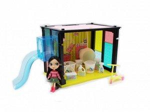 """Игровой набор Abtoys В гостях у куклы """"Модный дом"""" в наборе с куклой и мебелью, 35 деталей143"""