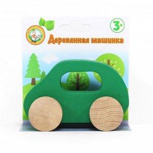 Игрушка Машинка деревянная (зеленая)