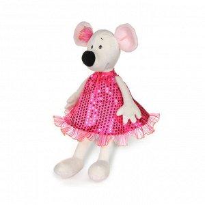 Мягкая игрушка Maxitoys Luxury Крыса Василиса в Бордовом Платье, 23 см28