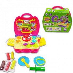 """Набор """"Сладости"""", масса для лепки, 5 упаковок разных цветов в наборе с игровым полем и тематическими аксессуарами, в чемоданчике, 41 предмет242"""