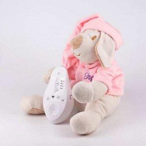 Собачка розовая Drema BabyDou с белым и розовым шумом