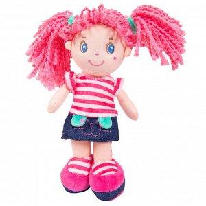 Кукла ABtoys Мягкое сердце, с розовыми волосами в джинсовой юбочке, мягконабивная, 20 см162