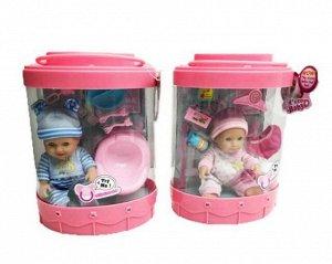 """Пупс """"Micro Baby"""" в банке, 15 см, с аксессуарами, 2 вида в коллекции59"""