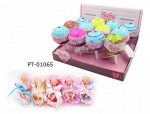 Кукла ABtoys Baby Boutique Пупс-сюрприз в конфетке с аксессуарами, 12 шт. в дисплее, 5 видов в коллекции36