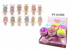 Кукла ABtoys Baby Boutique Пупс-сюрприз в конфетке с аксессуарами, 9 шт. в дисплее, 12 видов в коллекции, (1 серия)2340
