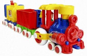 Паровозик Ромашка с 2 вагонами (Детский сад) 57 см.158