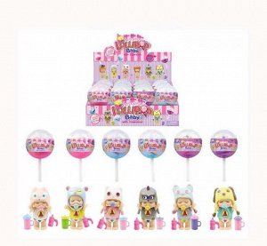 """Пупс-куколка (сюрприз) в конфетке """"LolliPop Baby"""", с аксессуарами, 12 шт. в дисплее 6 видов в коллекции,29"""