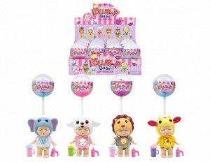 """Пупс-куколка (сюрприз) в конфетке """"LolliPop Baby"""", с аксессуарами, 12 шт. в дисплее 4 вида в коллекции,2"""