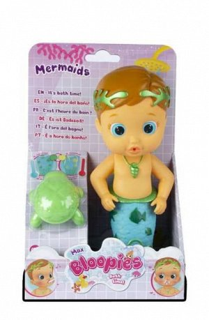 Кукла IMC Toys Bloopies для купания Max русалочка, 26 см1485