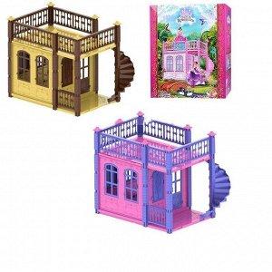 """Домик для кукол """"Замок Принцессы"""" (1 этаж) бежевый/розовый3"""