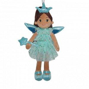 Кукла ABtoys Мягкое сердце, мягконабивная Фея в голубом платье, 45 см262