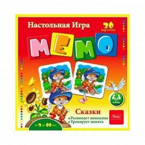 Настольная игра Hatber МЕМО Сказки, 36 карточек24