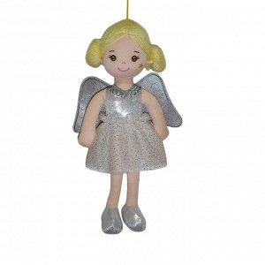 Кукла ABtoys Мягкое сердце, мягконабивная Ангел с крыльями, в серебрянном платье, 30 см1