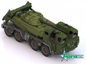 Тягач военный Щит с танком 56х21х21,5 см.45