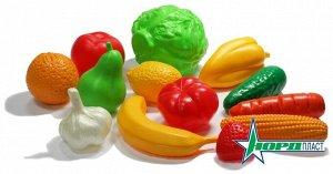 Набор Овощи и фрукты (13 предметов в сетке) 21х12х26 см12
