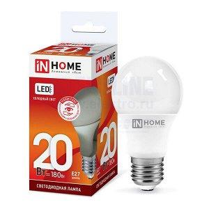 Лампа светодиодная LED-A60-VC 20Вт 230В Е27 6500К 1800Лм IN HOME
