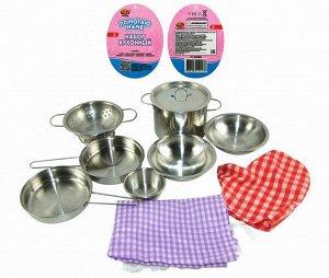 """Набор посуды металлической для кухни """"Помогаю Маме"""", 11 предметов557"""